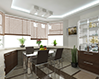 Дизайн натяжного потолока на кухне
