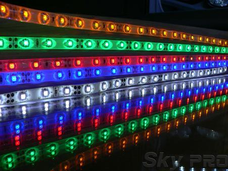 Цветная светодиодная лента RGB
