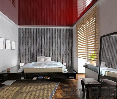 Установка натяжного потолка в спальне в Малой Вишере